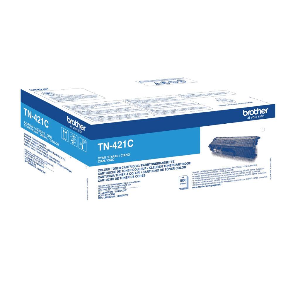 Brother TN-421 Cyan Toner Cartridge - TN421C