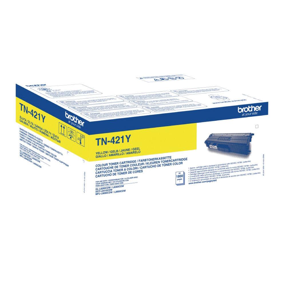 Brother TN-421 Yellow Toner Cartridge - TN421Y