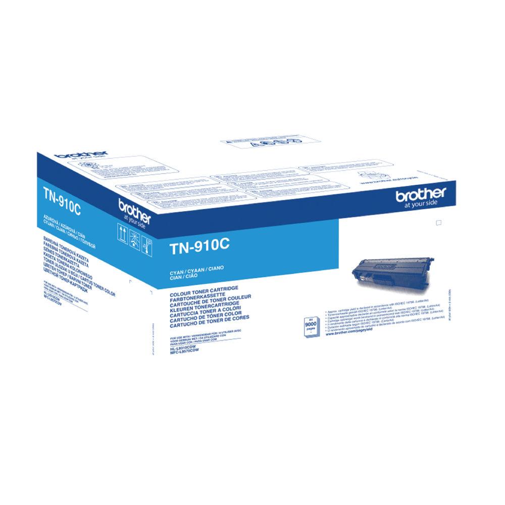 Brother TN-910 Cyan Ultra High Yield Toner Cartridge - TN910C
