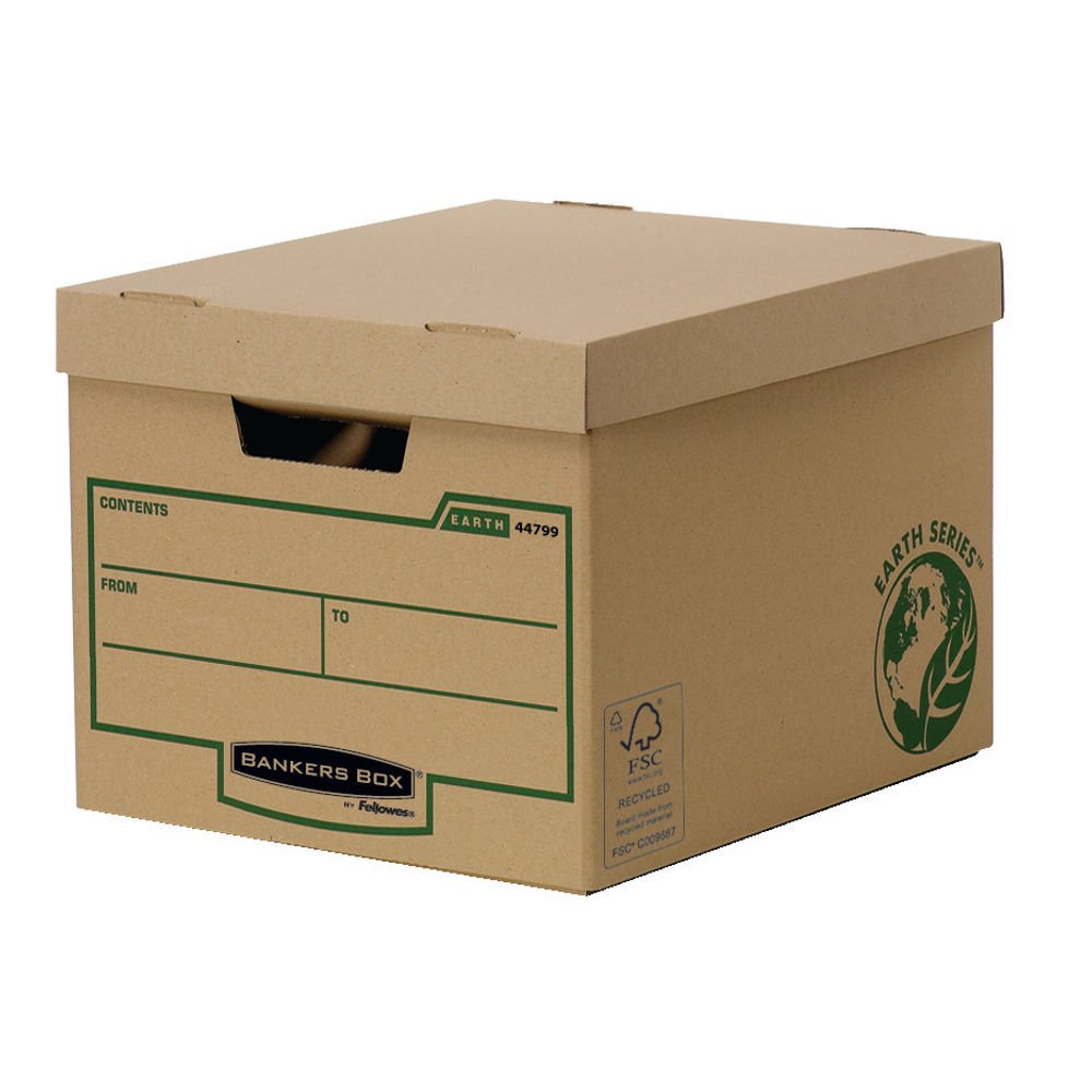 Fellowes Earth Series Heavy Duty Storage Box - Pack of 10 - 4479901