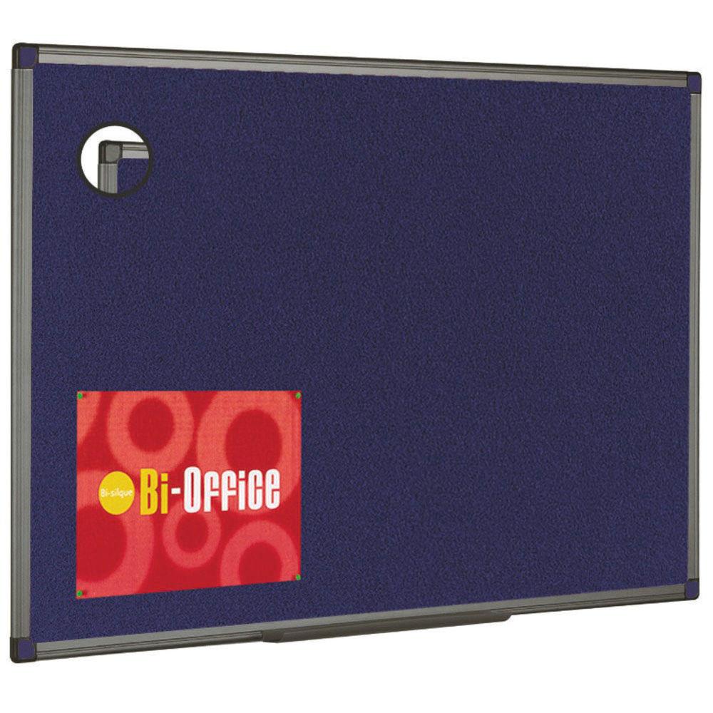 Bi-Office Blue Feltboard Aluminium Finish - FB0443186