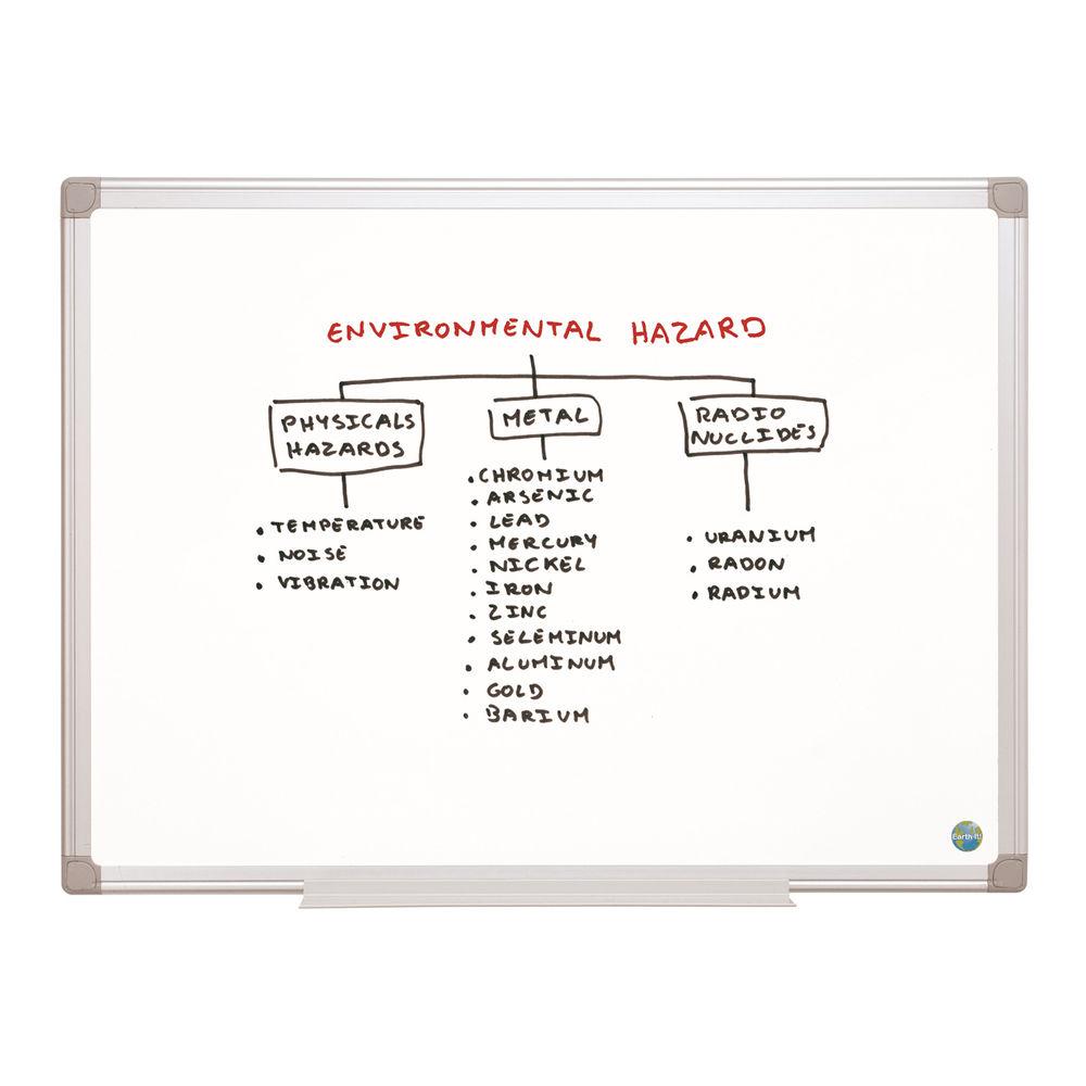 Bi-Office Earth Non-Magnetic Melamine Drywipe Board 1800x1200mm MA2700790