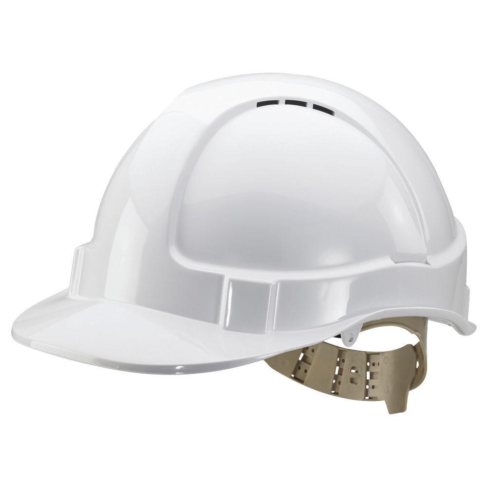 White Comfort Vented Helmet - BBVSHW