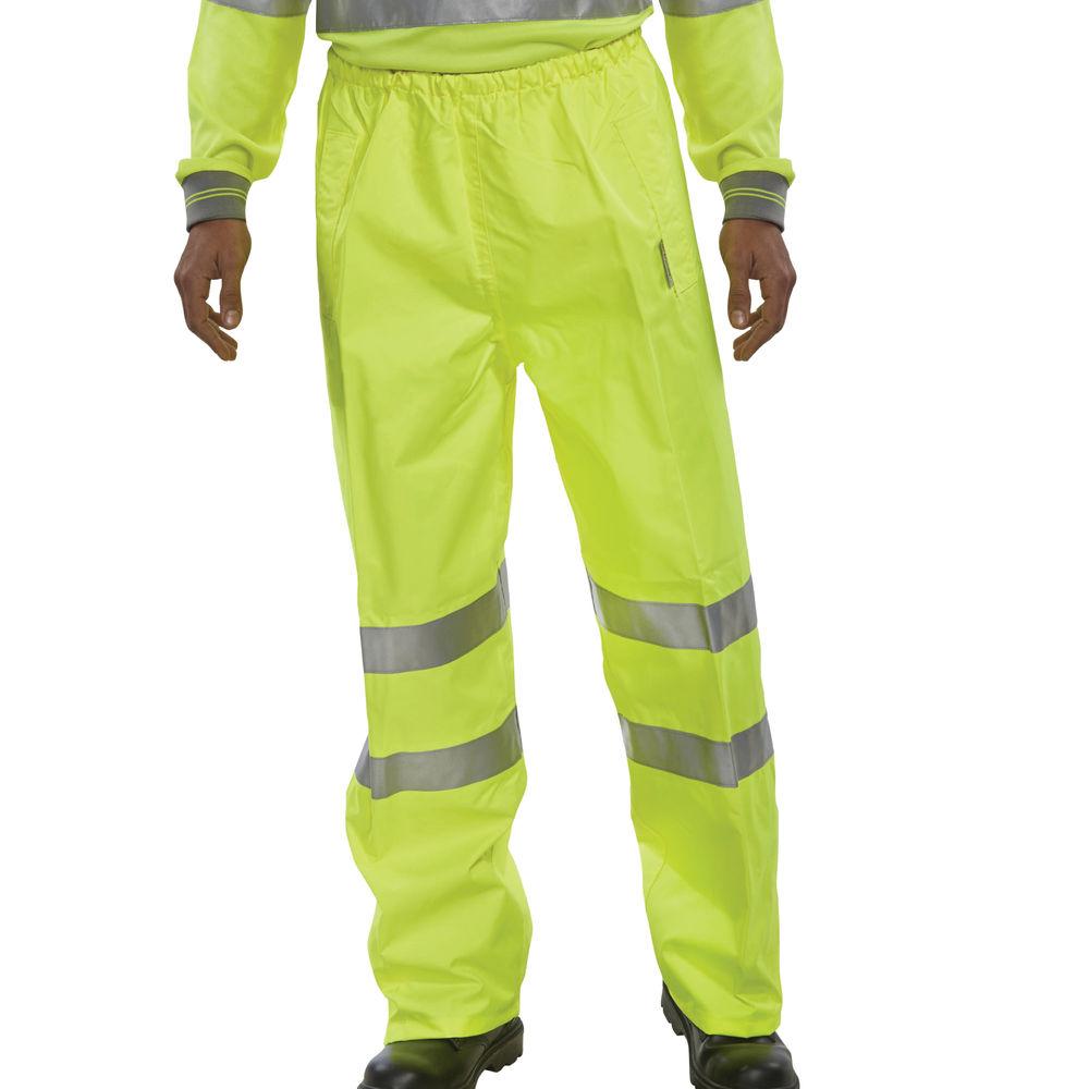 Medium Hi-Visibility Yellow Trousers - BITSYM