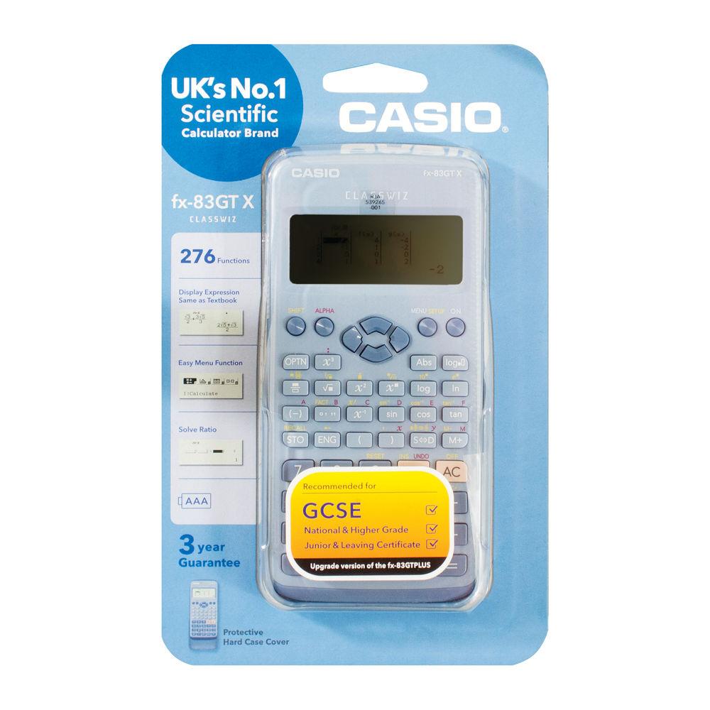 Casio Scientific Calculator, Blue, 260 Functions - FX-85GTX (Blue)