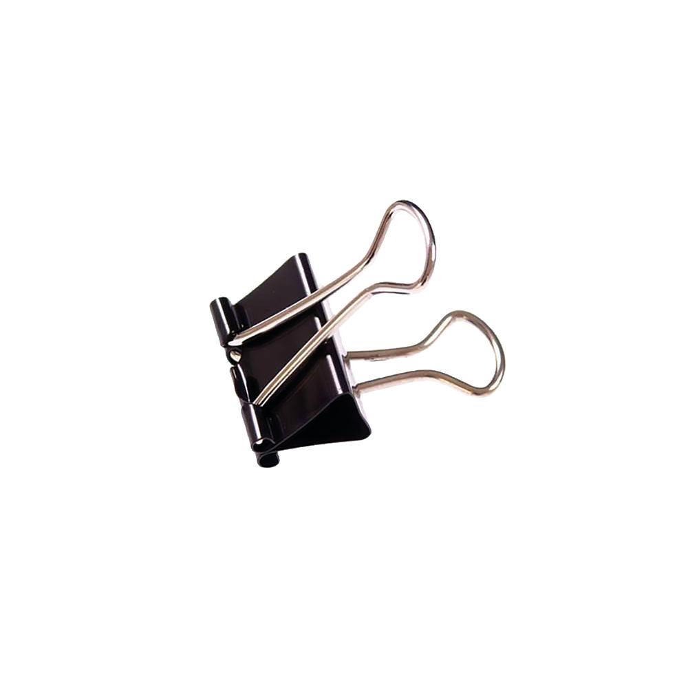 Foldback Clip 25mm Black (Pack of 100) 22781