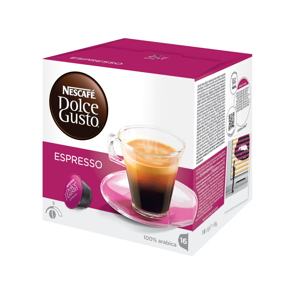 Nescafe Dolce Gusto Espresso Capsules, Pack of 48 - 12019859