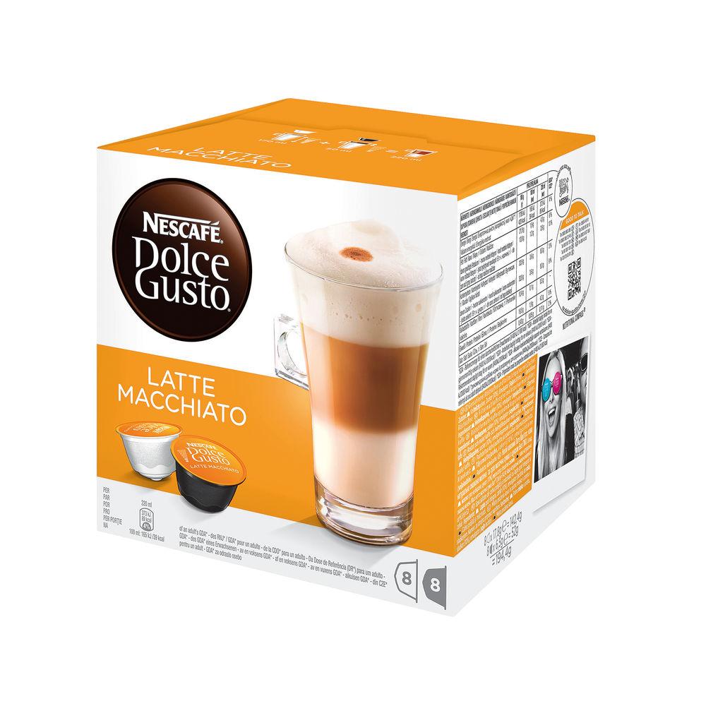 Nescafe Dolce Gusto Latte Macchiato Capsules, Pack of 48 - 12416323