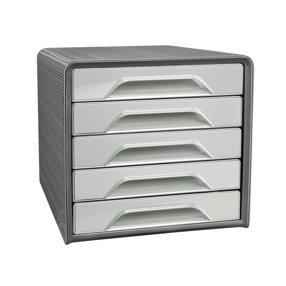 Smoove by CEP Recycled 5 Drawer Desktop Module Grey 1071116361