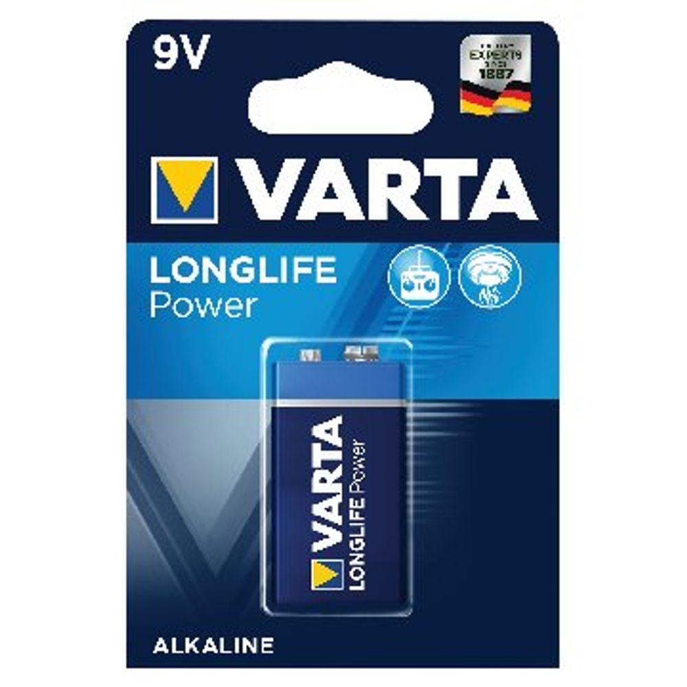 Varta 9V High Energy Battery Alkaline (10 year shelf life, ideal for smoke detectors) 4922121411