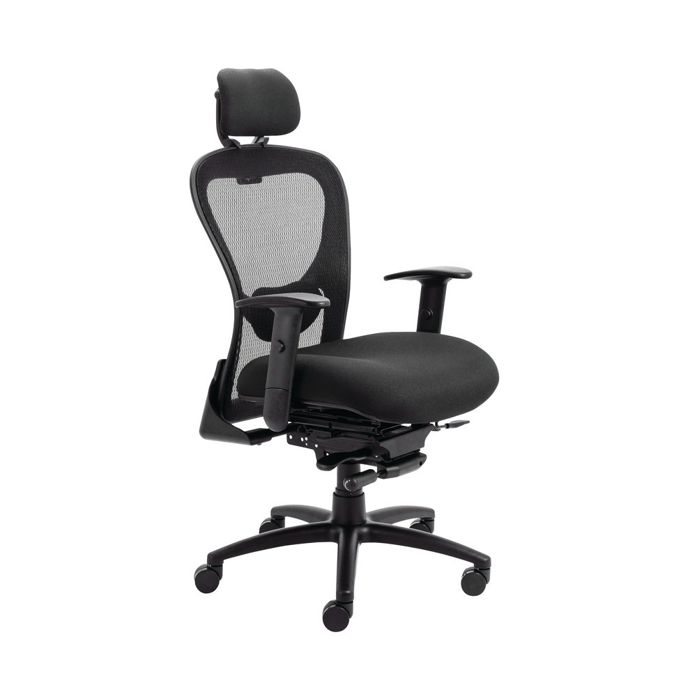 Arista Amber High Back Mesh Office Chair in Black