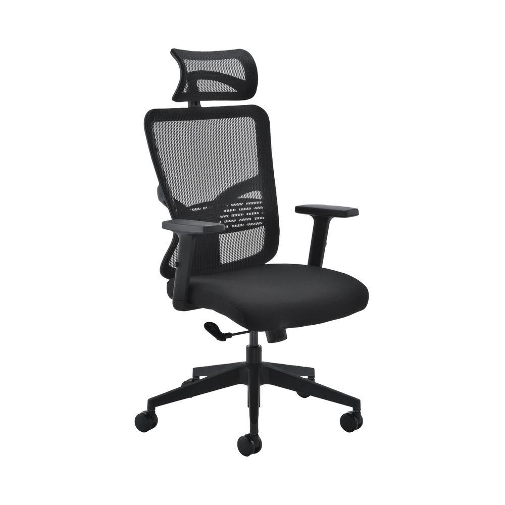 Arista Vienna High Back Black Office Chair