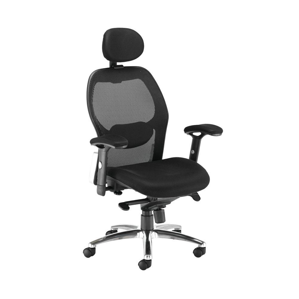 Arista Topaz Black High Back Mesh Office Chair