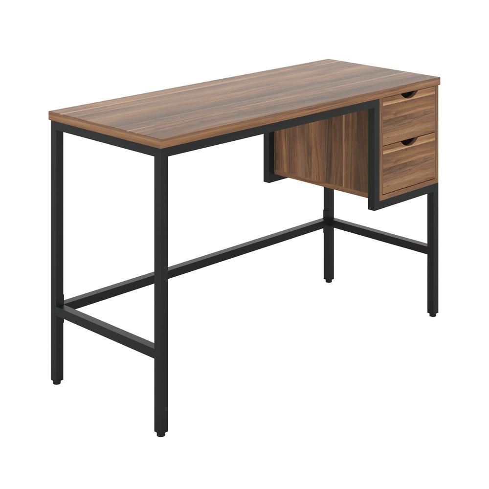 Soho Computer Desk With 2 Drawers Dark Walnut/Black KF90924