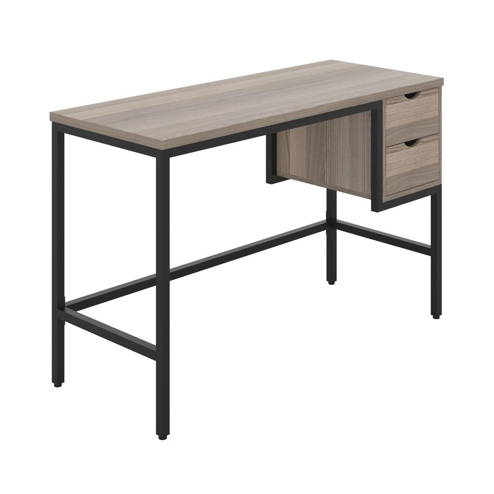 Jemini Soho Computer Desk with 2 Drawers 1200x480x770mm Grey Oak/Black KF90925