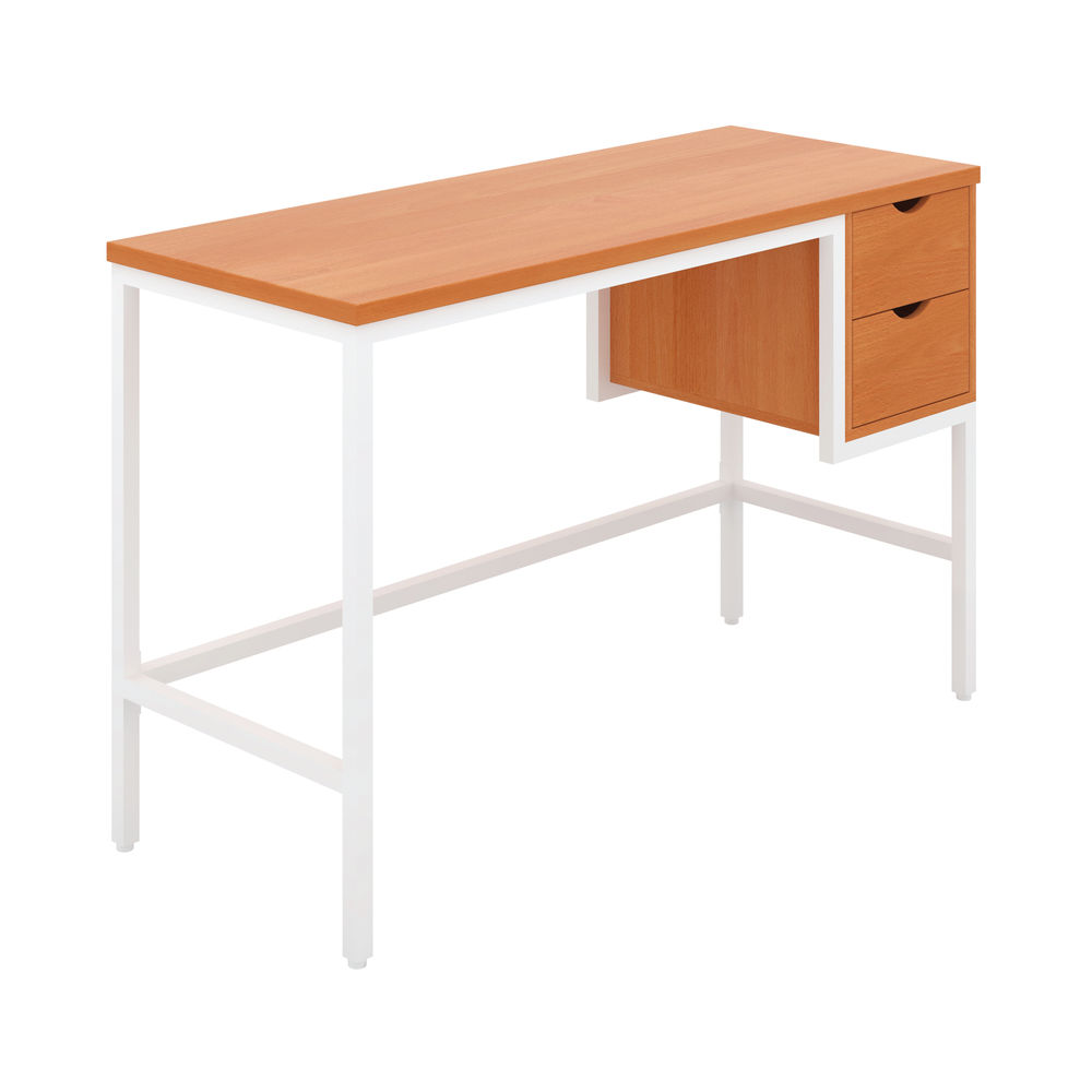 Soho Computer Desk With 2 Drawers Beech/White KF90927