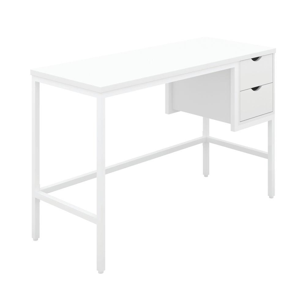 Jemini Soho Computer Desk with 2 Drawers 1200x480x770mm White/White KF90928
