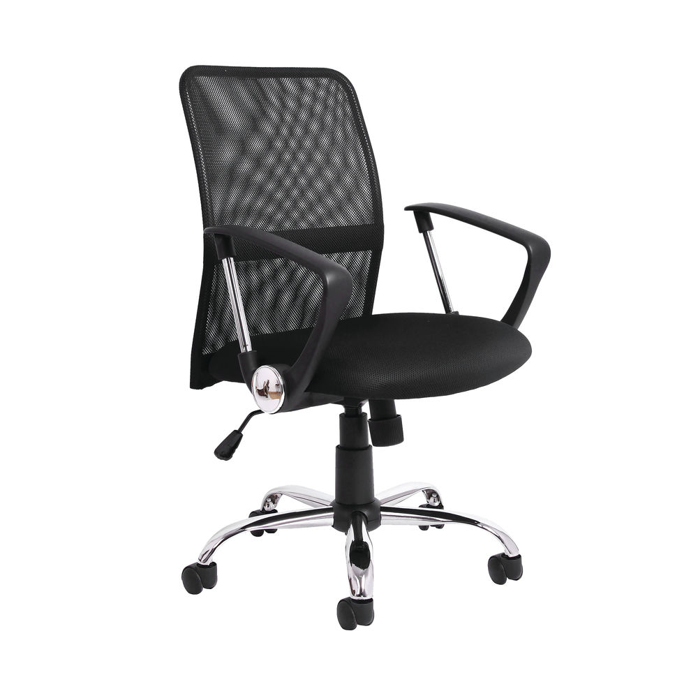 Jemini Medium Back Nimbus Mesh Office Chair in Black
