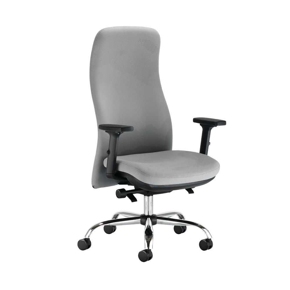 Capella Tempest Posture Chair With 2D Arms in Grey