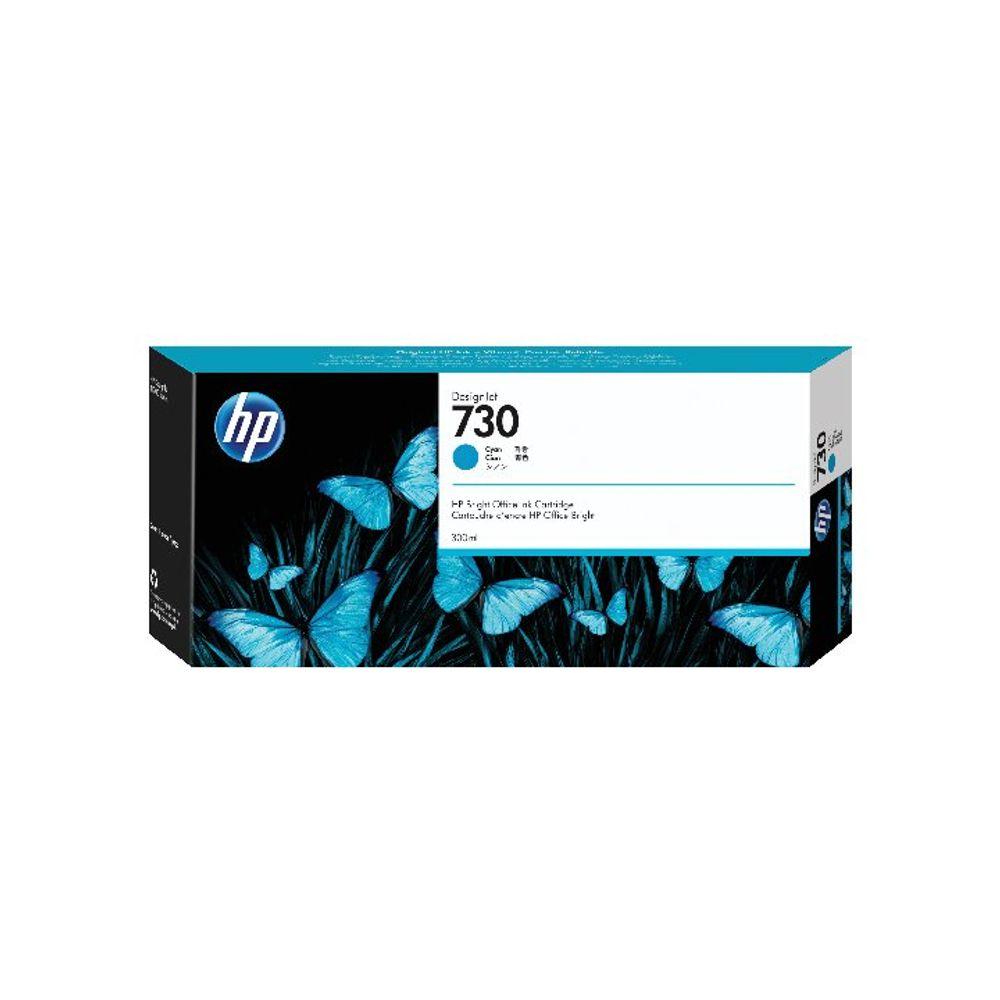 HP 730 300ml Cyan DesignJet Ink Cartridge (Capacity: 300ml) P2V68A