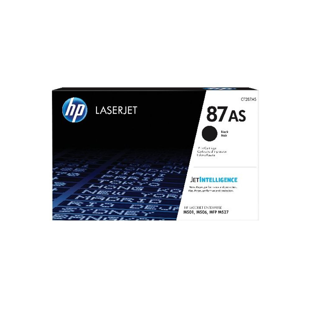 HP 87AS Black LaserJet Toner Cartridge CF287AS