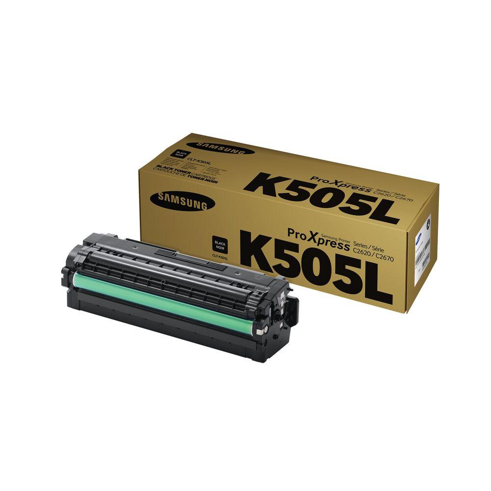 Samsung CLT-K505L High Yield Black Toner Cartridge SU168A