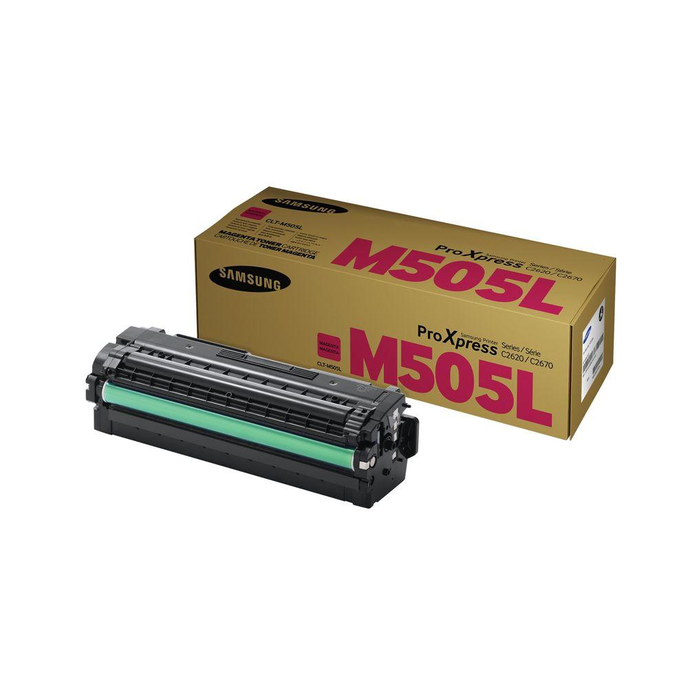 Samsung CLT-M505L High Yield Magenta Toner Cartridge SU302A