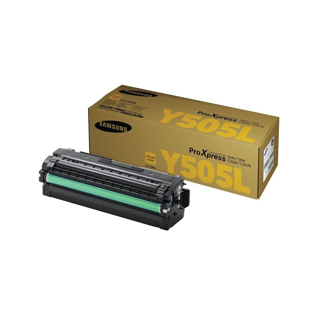 Samsung CLT-Y505L High Yield Yellow Toner Cartridge SU512A