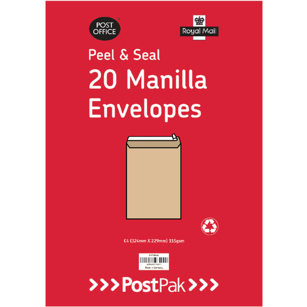 Envelopes C5 Peel and Seal Manilla 115gsm (Pack of 200) 9730695