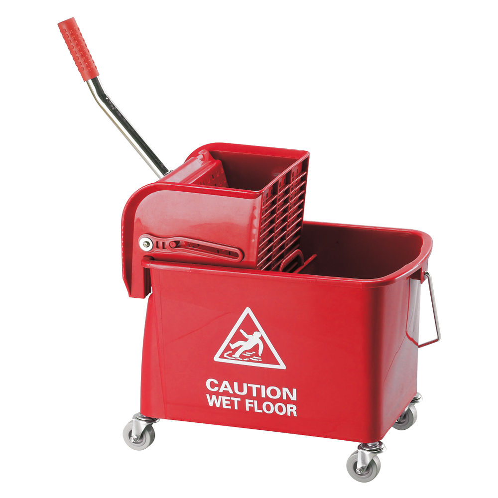 20L Red Mobile Mop Bucket and Wringer - 101248
