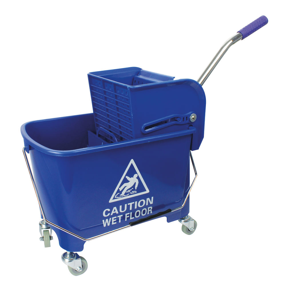 20 Litre Blue Mobile Mop Bucket and Wringer - 101248