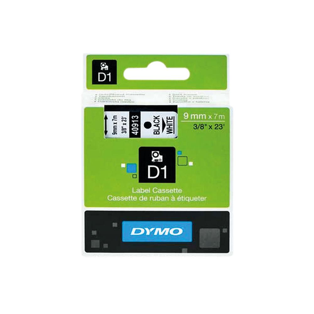 Dymo D1 Label Tape Black on White 9mmx7m - S0720680