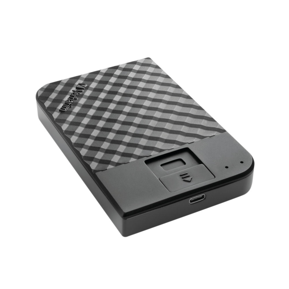 Verbatim 1TB Fingerprint Secure Portable Hard Drive - 53650
