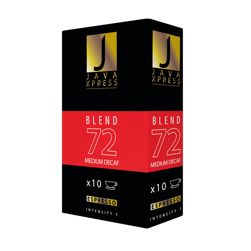 Nespresso Blend 72 Decaf Coffee Capsules, Pack of 100 - JX1072