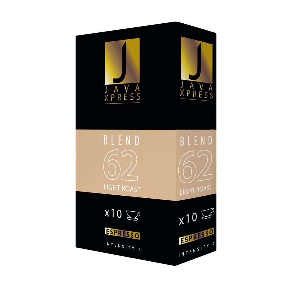 Nespresso Blend 62 Light Roast Coffee Capsules, Pack of 100 - JX1062