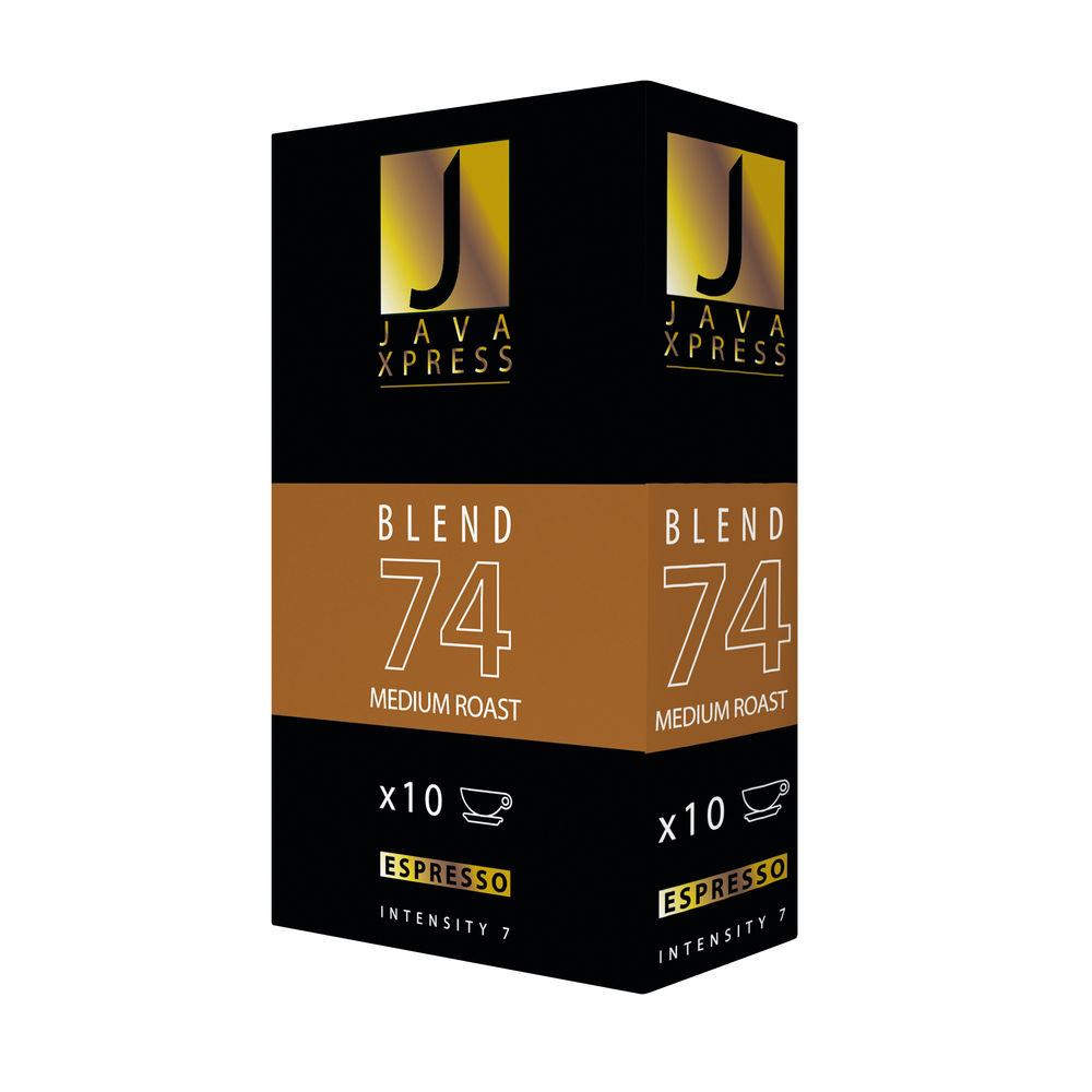 Nespresso Blend 74 Medium Roast Coffee Capsules, Pack of 100 - JX1074