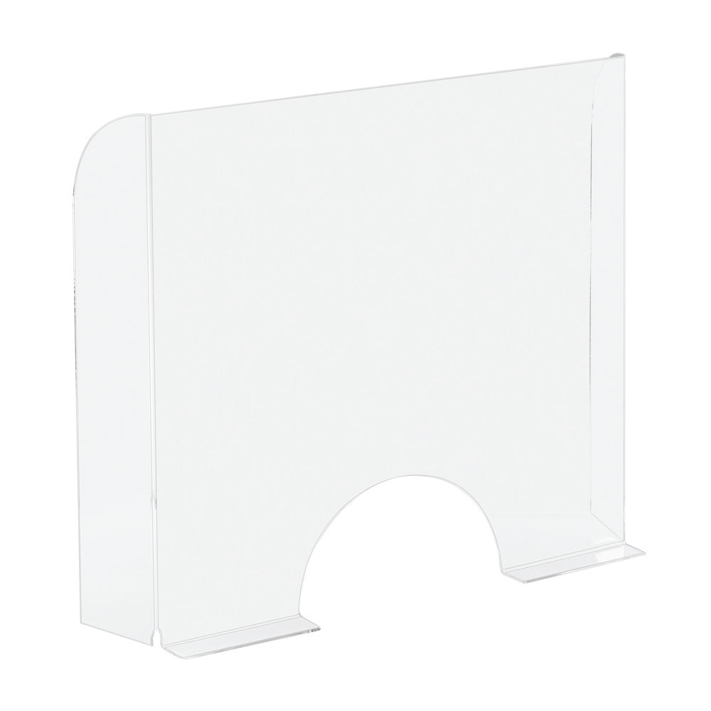 Exacompta Exascreen Sneeze Guard 95 x 68cm Cashier Protection - 80058D