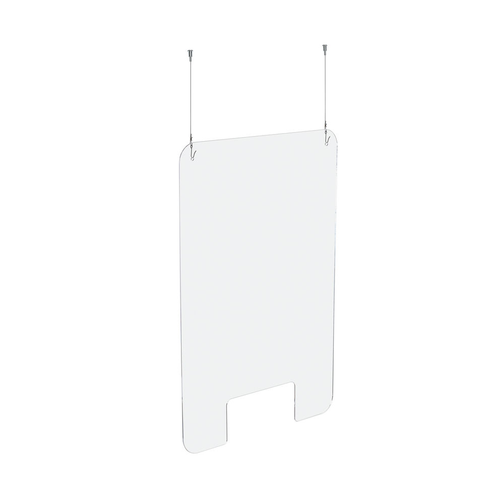 Exacompta Sneeze Guard Suspended With Fixation Kit 100x66cm 80158D