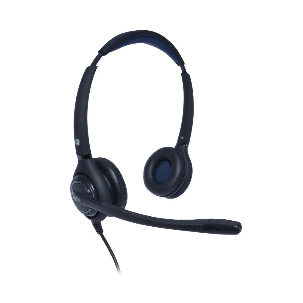 JPL 502S Professional Binaural Adjustable Headset With PLX Quick Disconnect (QD) Black JPL-502S