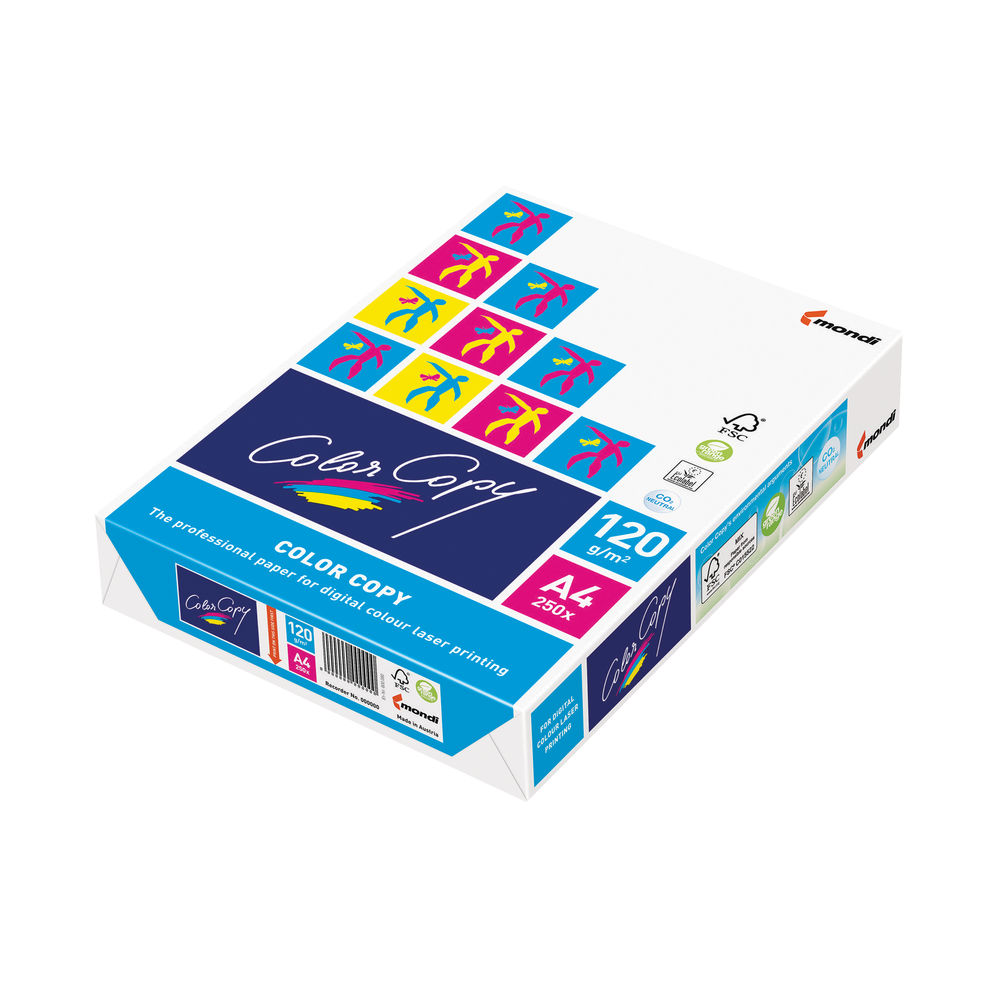 Color Copy White A4 Paper, 120gsm (Pack of 250) - CCW0330A1