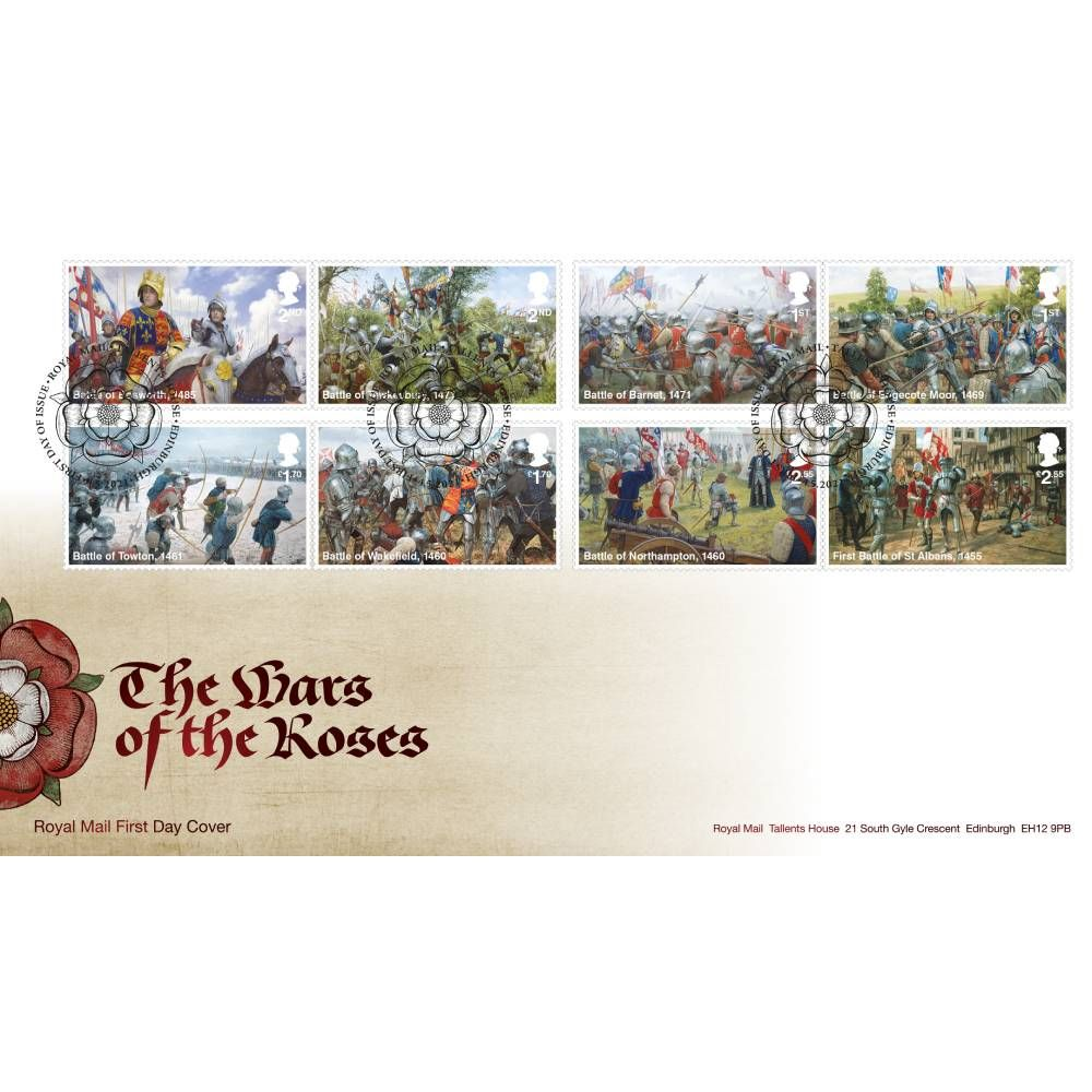 Wars of the Roses Souvenir Stamp Cover