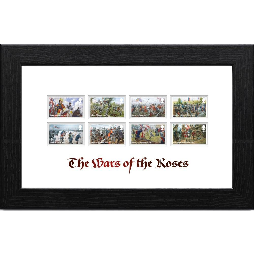 Wars of the Roses Framed Stamp Set