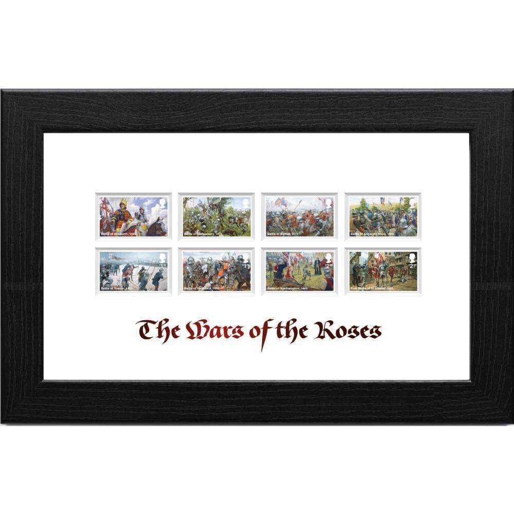Wars of the Roses Framed Stamp Set