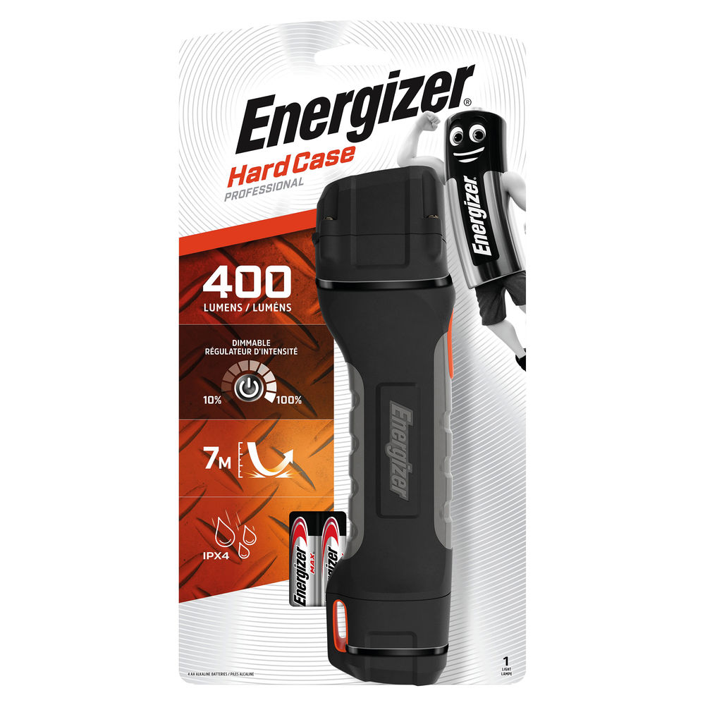 Energizer LED Hardcase Pro Torch with 4 x AA Batteries - 630060