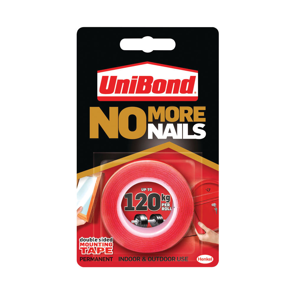 Unibond No More Nails 19mm x 1.5m Ultra Strong Roll - 781746