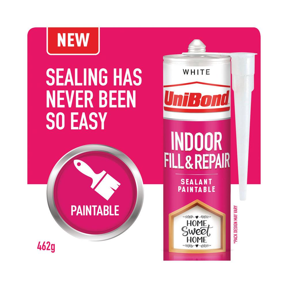 UniBond Indoor Fill and Repair Cartridge White 280ml 2646328