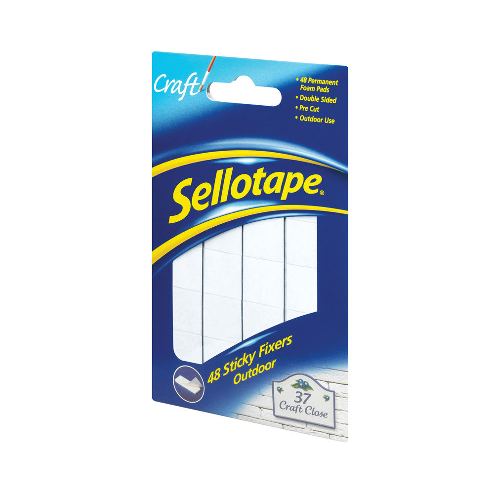 Sellotape Outdoor Sticky Fixers, Pack of 48 | 783895