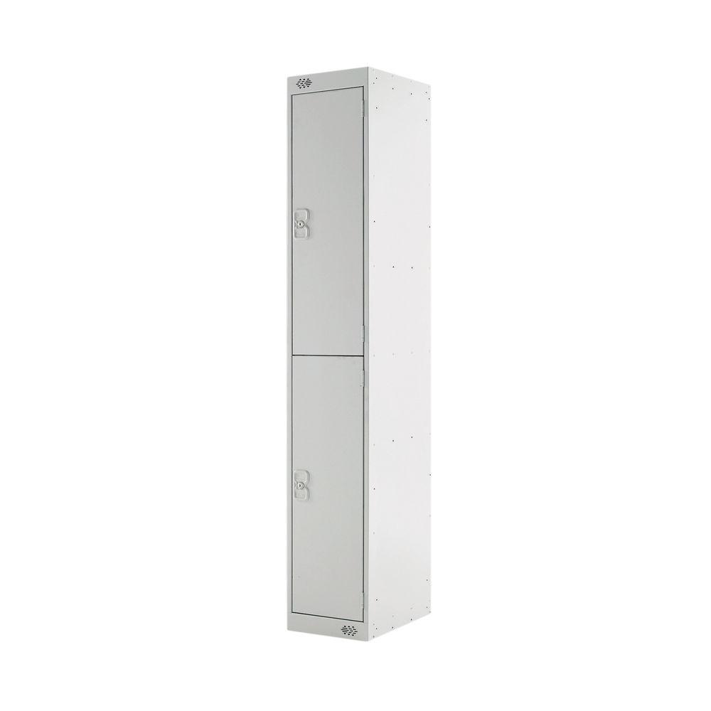 Two Compartment D450mm Light Grey Locker - MC00044