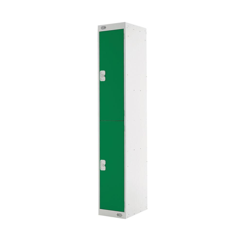 Two Compartment D450mm Green Locker - MC00046