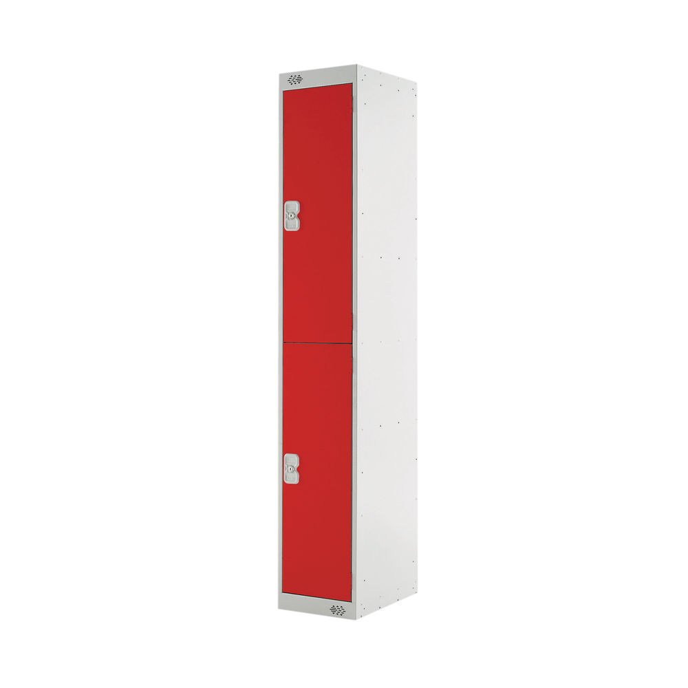Two Compartment D450mm Red Locker - MC00047